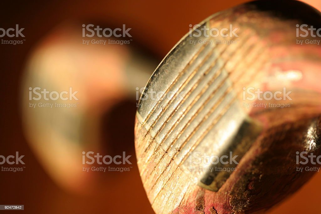 close-up focus on a golf club royalty-free stock photo