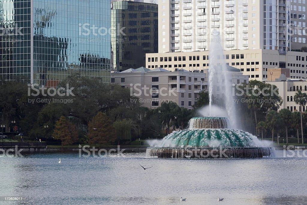 close-up, fountain at Lake Eola royalty-free stock photo