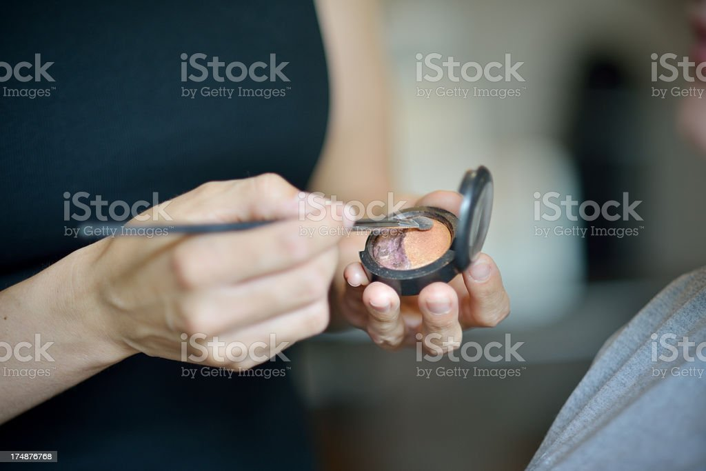 Closeup from a make up artist hands royalty-free stock photo