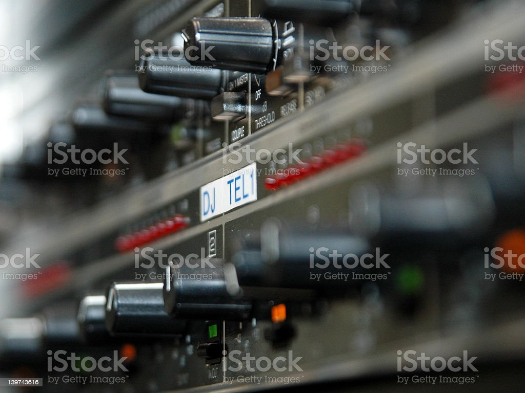 Close-up from professional audio equipment royalty-free stock photo