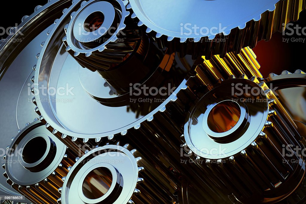 closeup gear wheels stock photo
