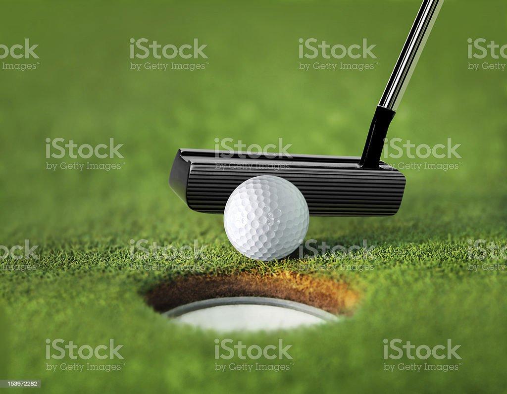closeup golf ball and tee stock photo