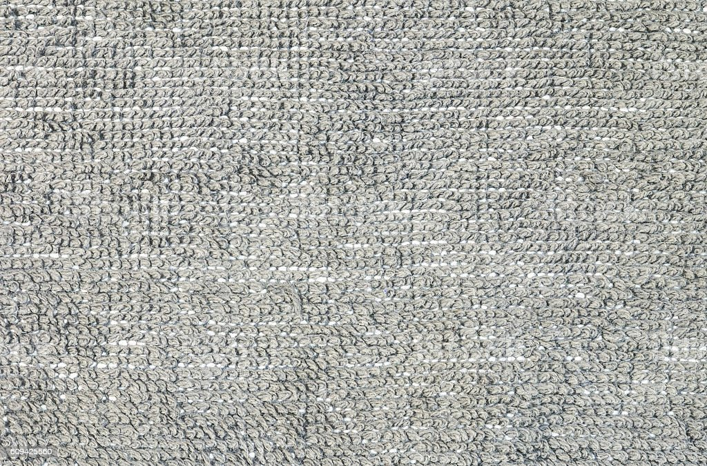 Closeup gray fabric mat texture background stock photo