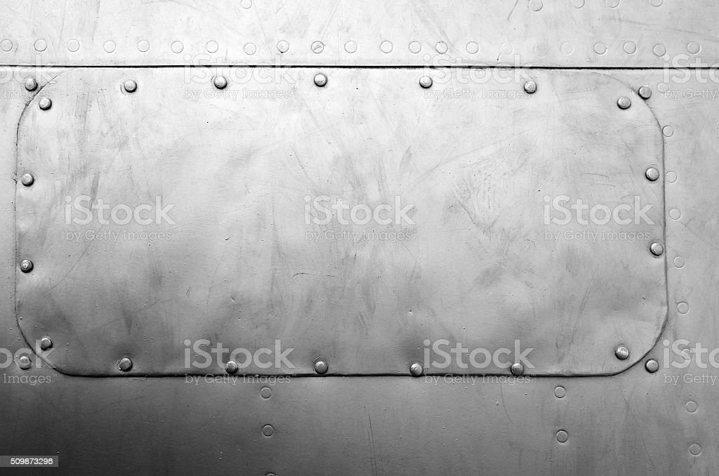 Close-up gray painted parts old sheet metal background texture stock photo