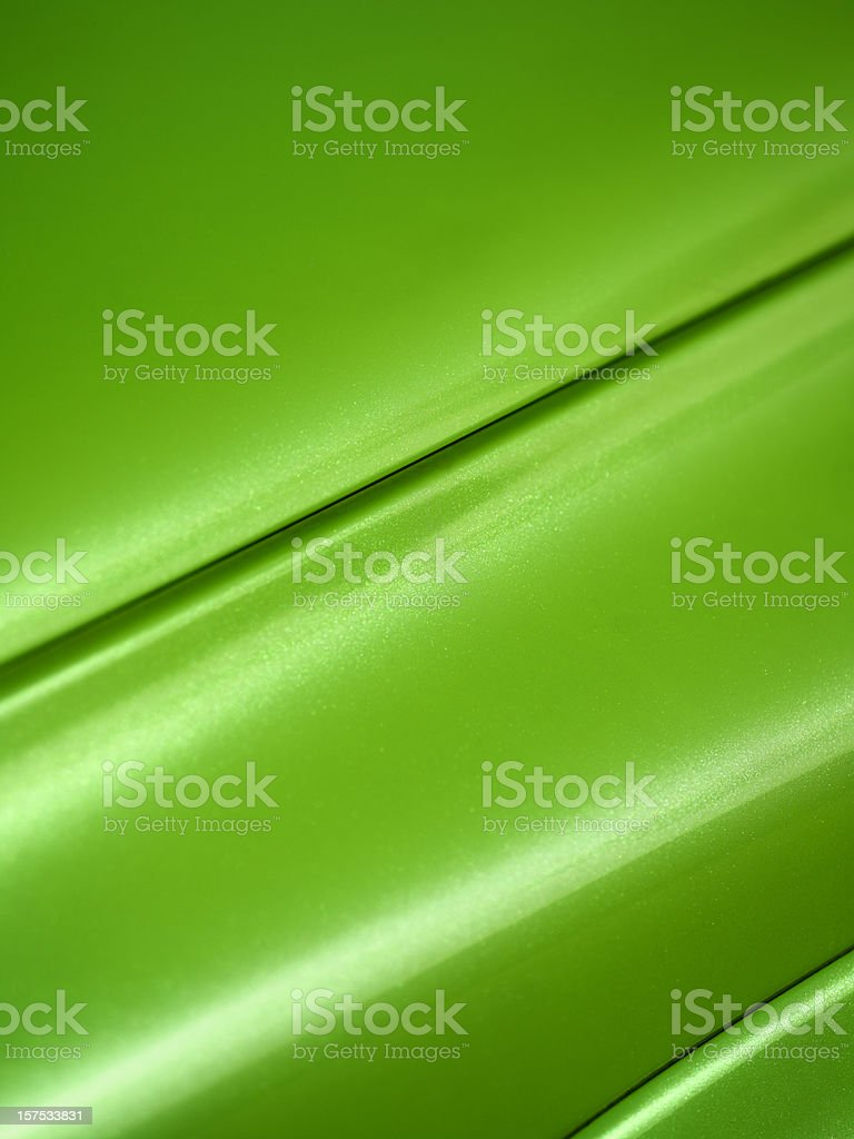 Close-up Green Car Hood and fender, background stock photo