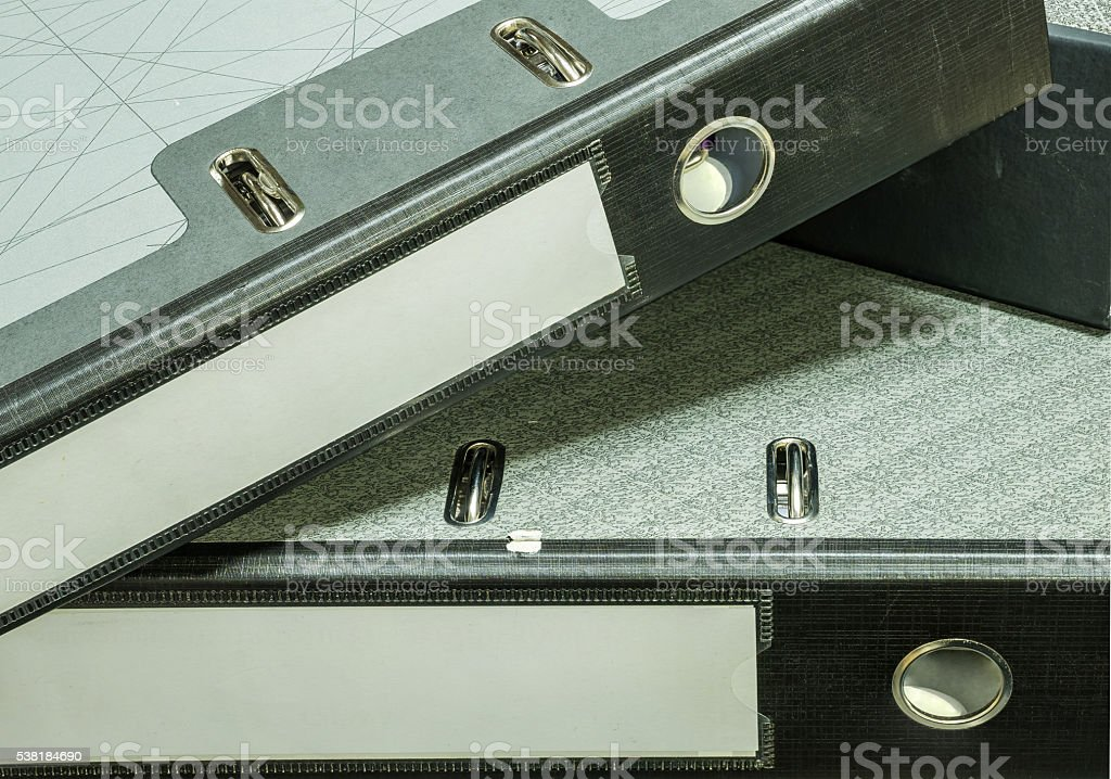 Closeup group of document file background stock photo