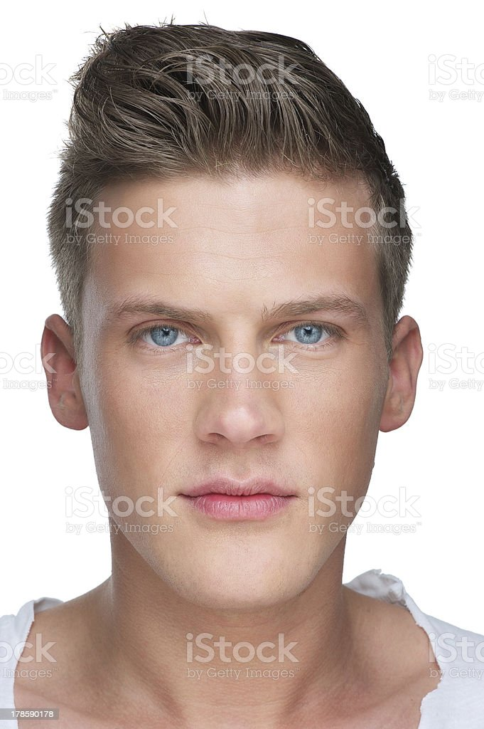 Close-up Handsome Young Man stock photo