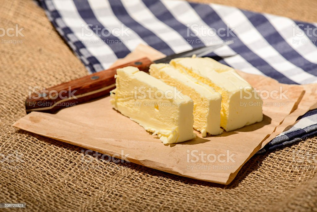 Closeup image of a delicious butter stock photo