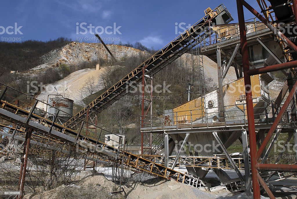 Close-up image of a quarry royalty-free stock photo