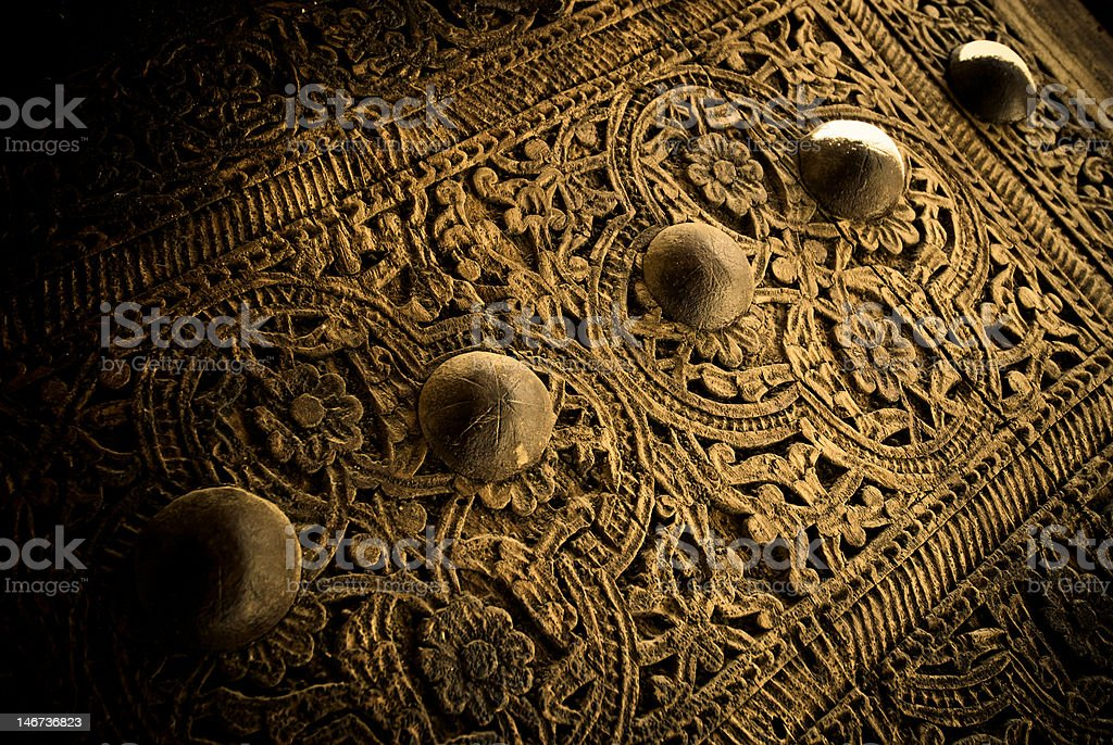 close-up image of ancient doors, very shallow focus royalty-free stock photo