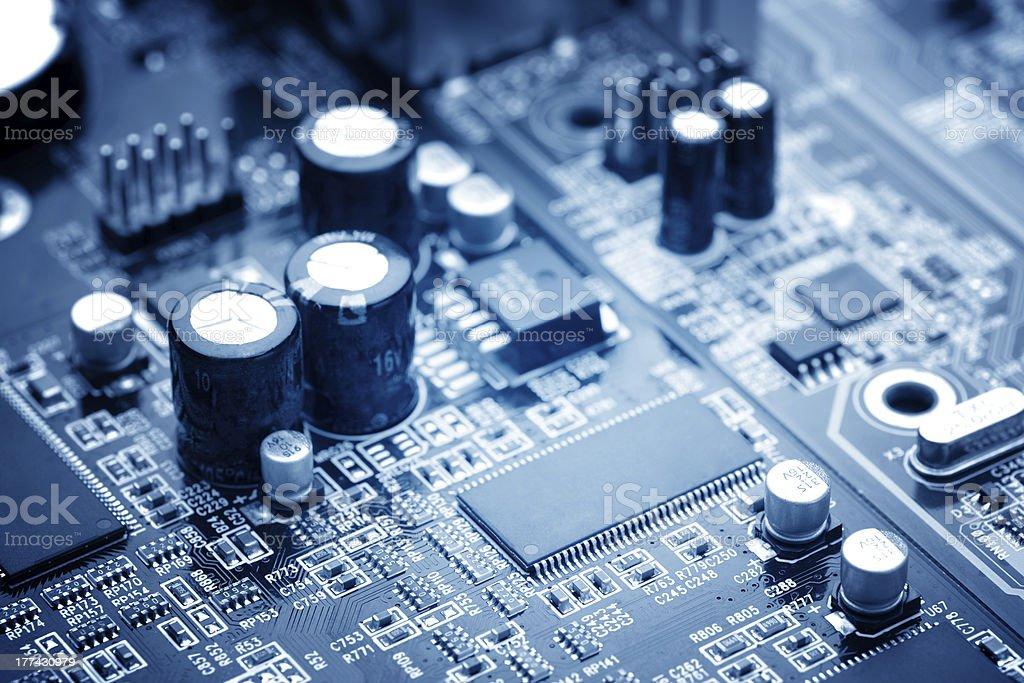 Closeup image of microchip interior stock photo