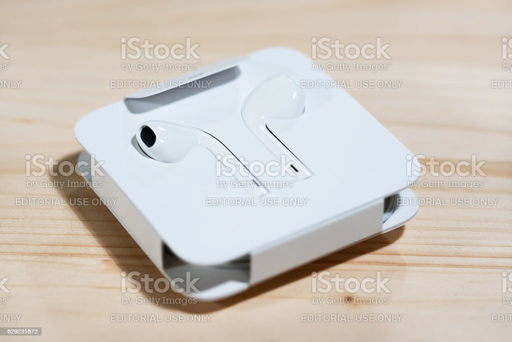 Close-up image of new Apple iPhone7 mockup stock photo