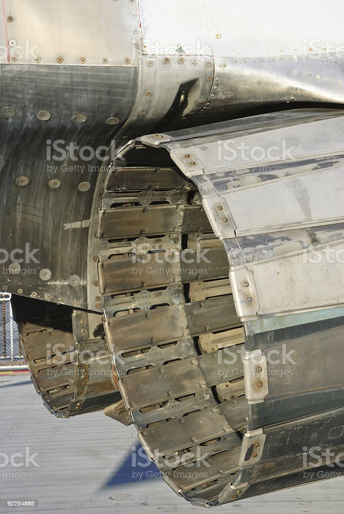 Closeup jet engines stock photo