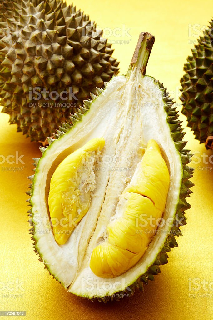 Closeup King of fruits, durian stock photo