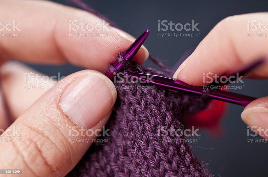 Close-up Knitting royalty-free stock photo