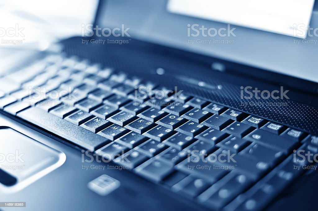 close-up laptop with shallow DOF royalty-free stock photo