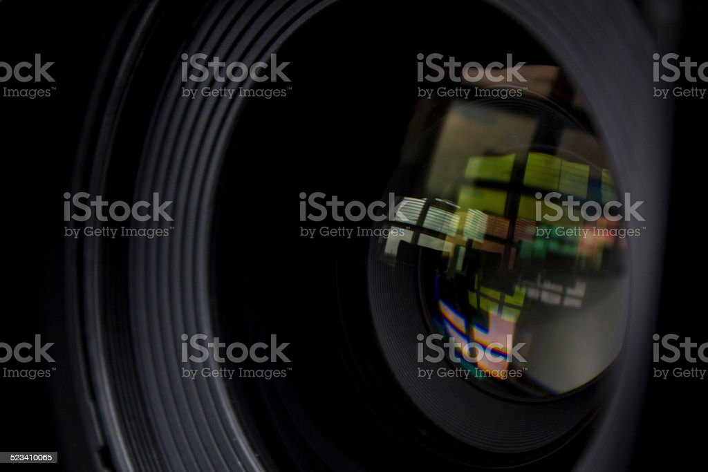 Close-up lens front element stock photo