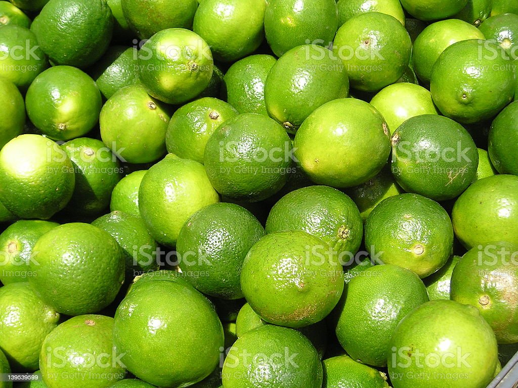 Closeup: Limes royalty-free stock photo