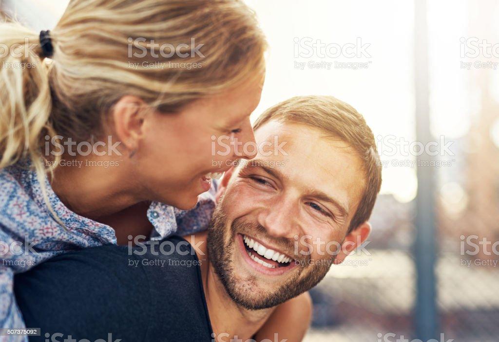 Closeup, Loving Couple stock photo