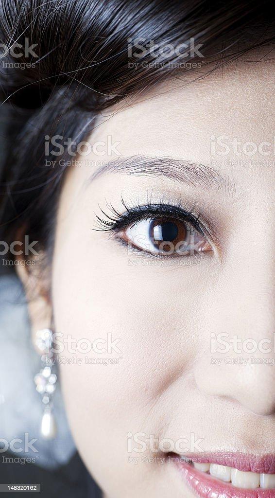 Close-up makeup. royalty-free stock photo