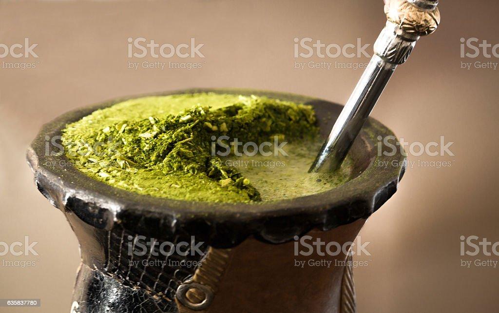 Close-up mate tea drink stock photo