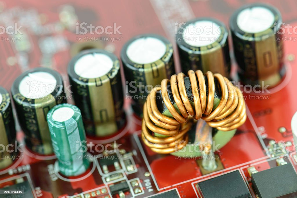 close-up microcircuit stock photo