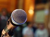 closeup microphone