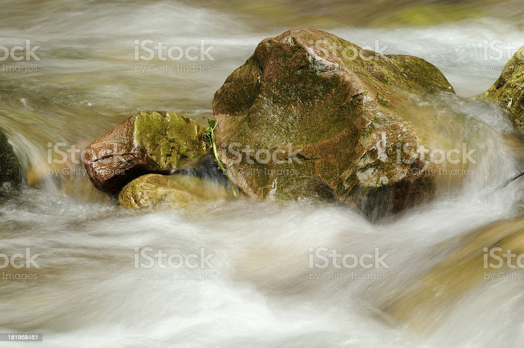 Close-up mountain stream in China stock photo