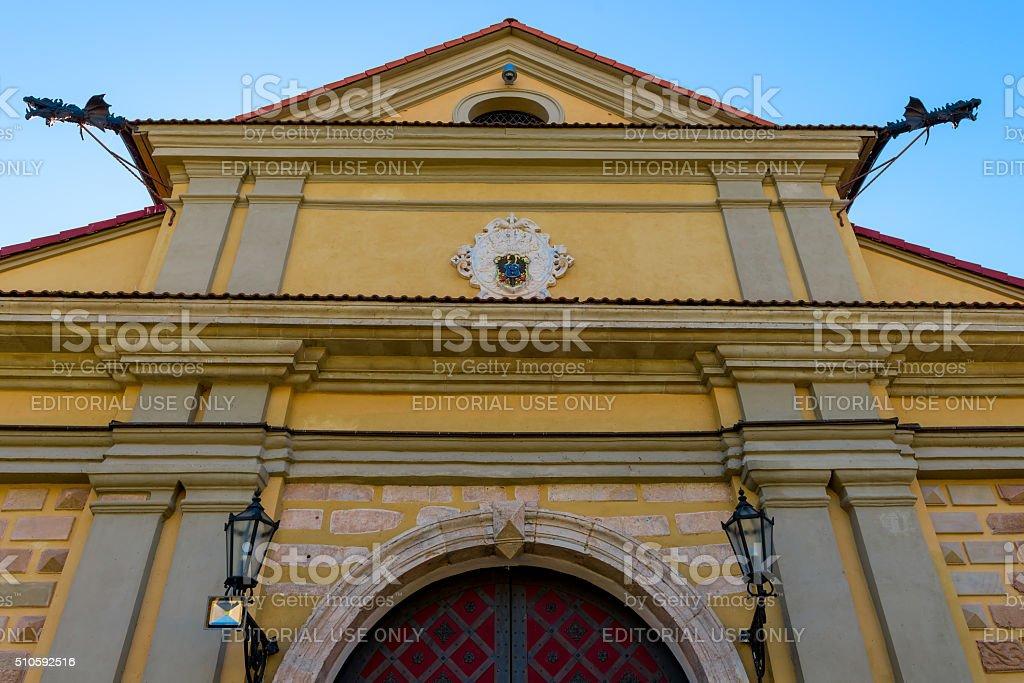 closeup Nesvizh Castle, Belarus stock photo