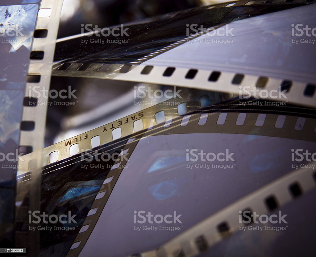 Closeup of 35mm Safety Film stock photo