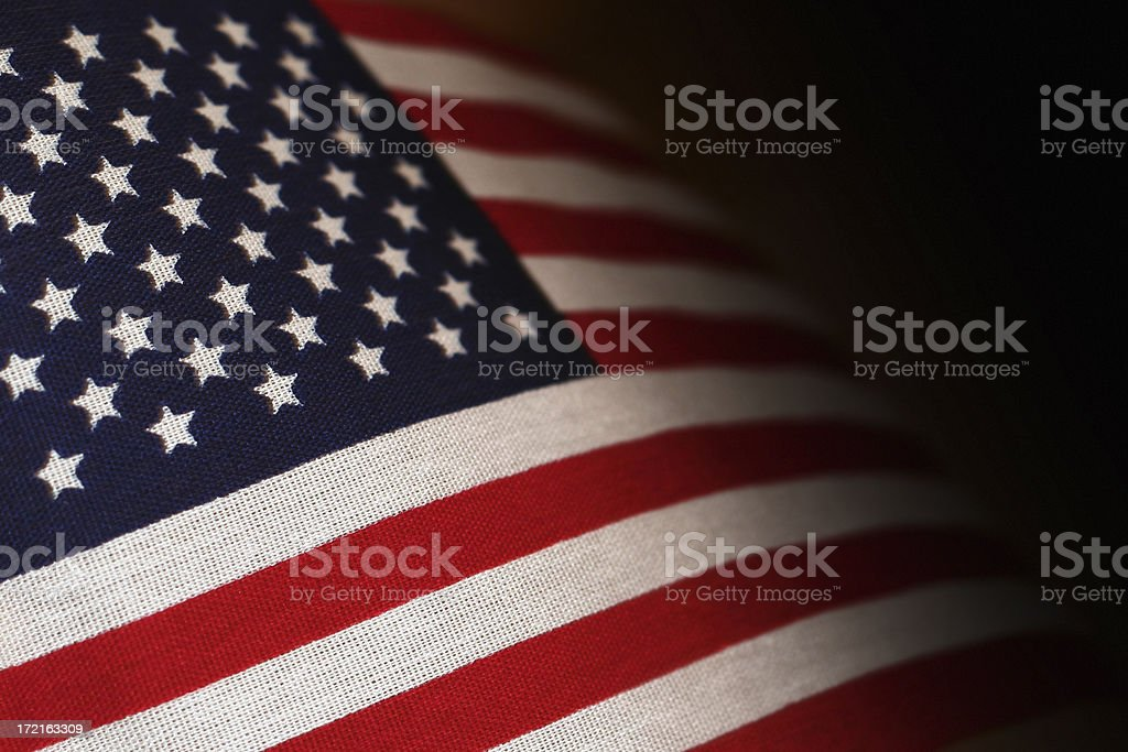 Close-up of a abstract background of an American flag royalty-free stock photo