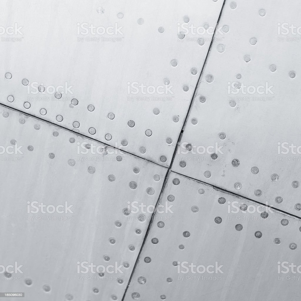 Close-up of a aircraft background texture stock photo