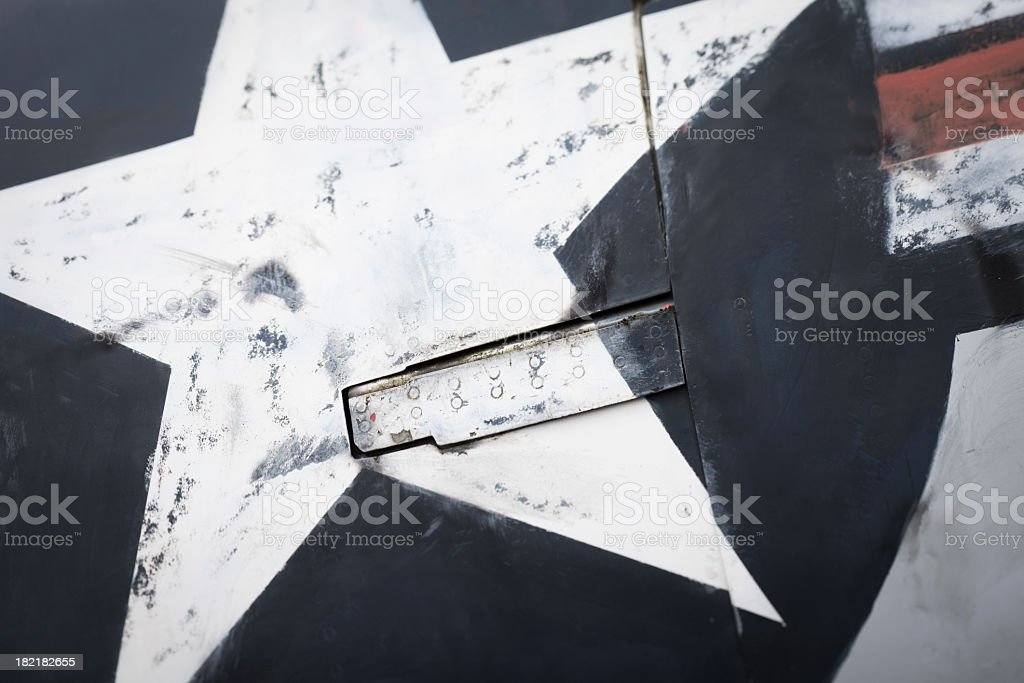 Close-up of a aircraft texture stock photo