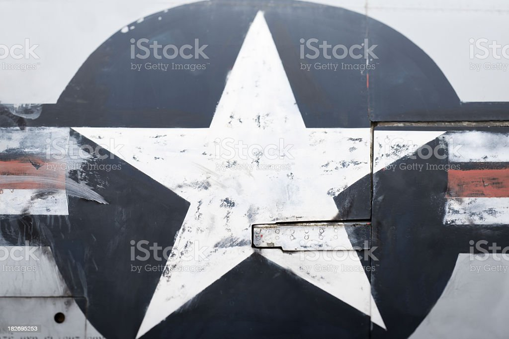 Close-up of a aircraft texture royalty-free stock photo