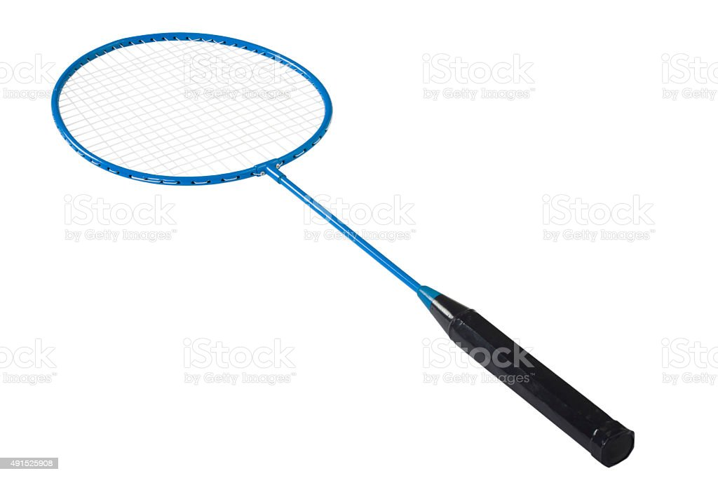 Close-up of a badminton racket stock photo