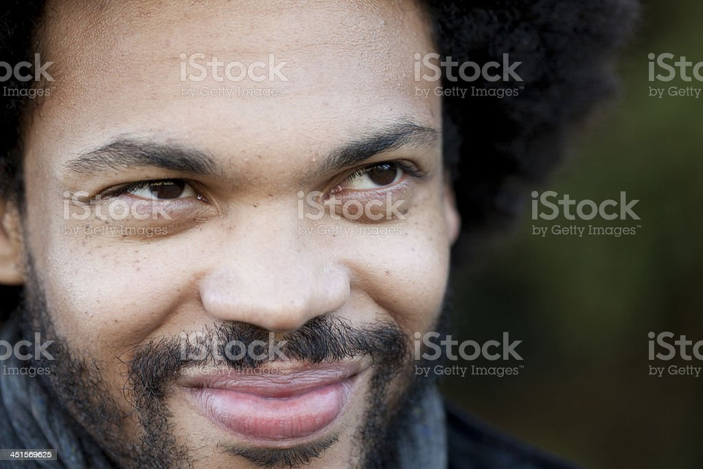 Close-up of a bearded young man royalty-free stock photo