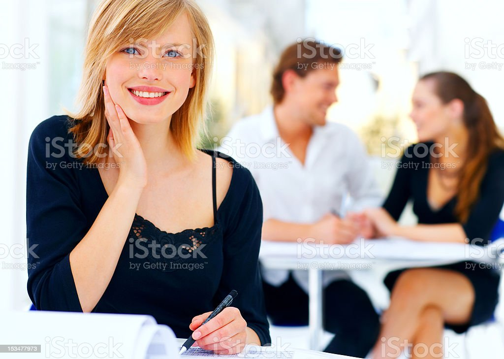 Close-up of a beautiful businesswoman royalty-free stock photo