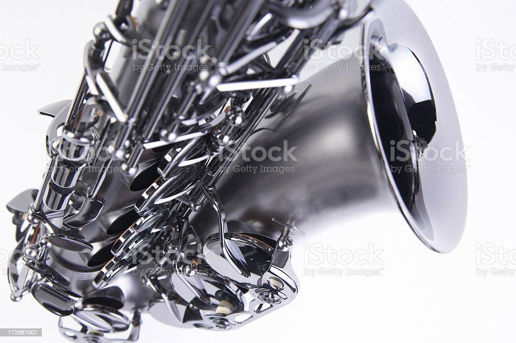 closeup of a beautiful sax royalty-free stock photo
