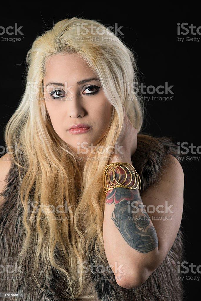 Closeup of a beautiful woman royalty-free stock photo