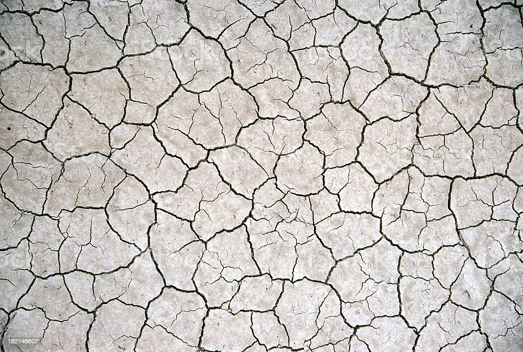 Close-up of a beige cracked surface stock photo