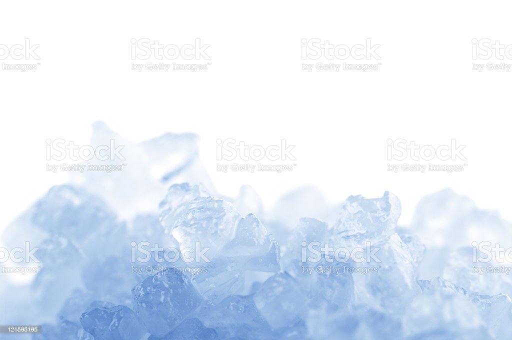 A close-up of a blue bath salt close-up stock photo