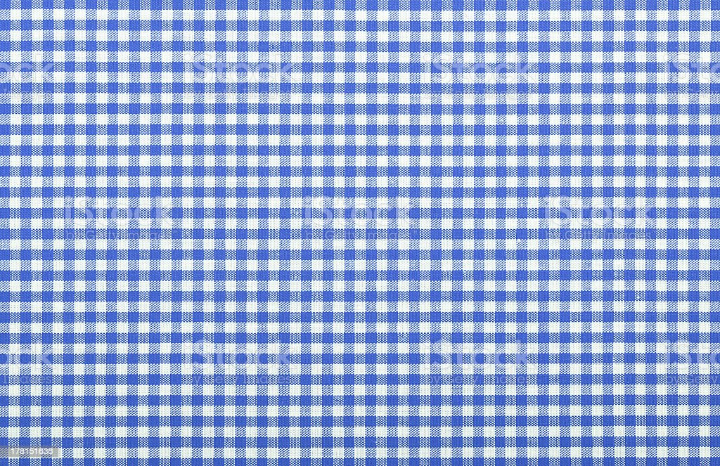 Close-up of a blue checkered fabric stock photo