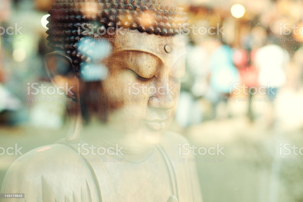 Close-up of a Buddha statue (Sri Lanka) stock photo