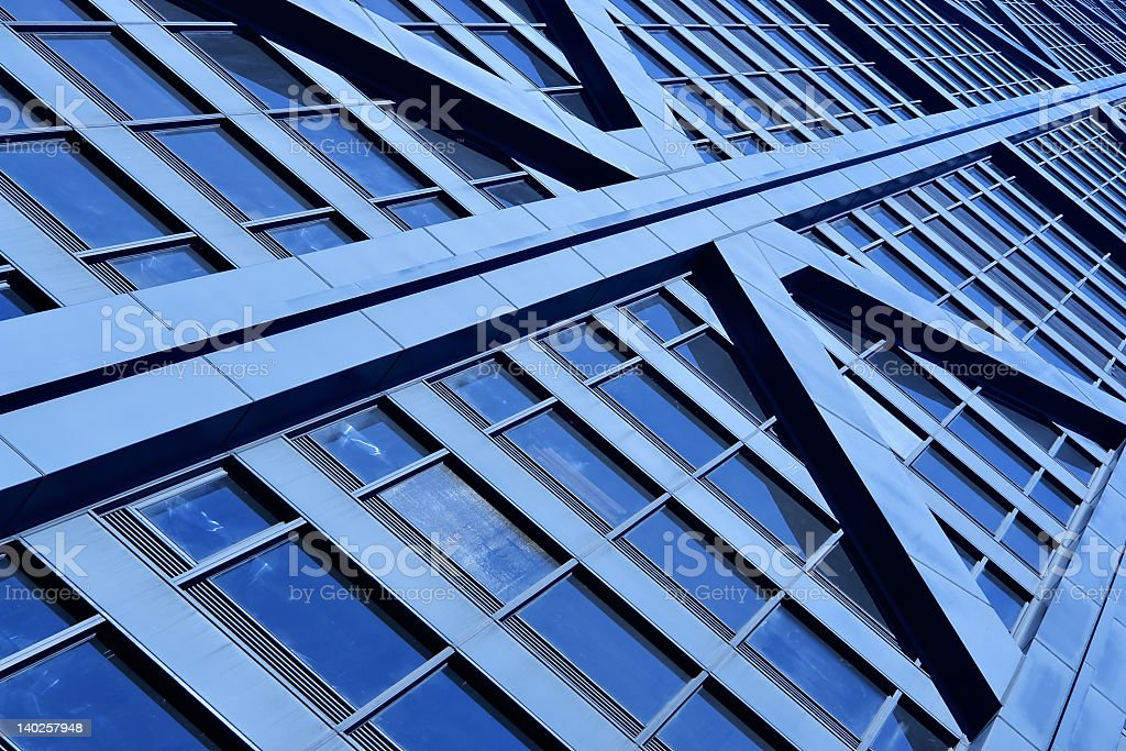 Close-up of a building that looks like a grid stock photo