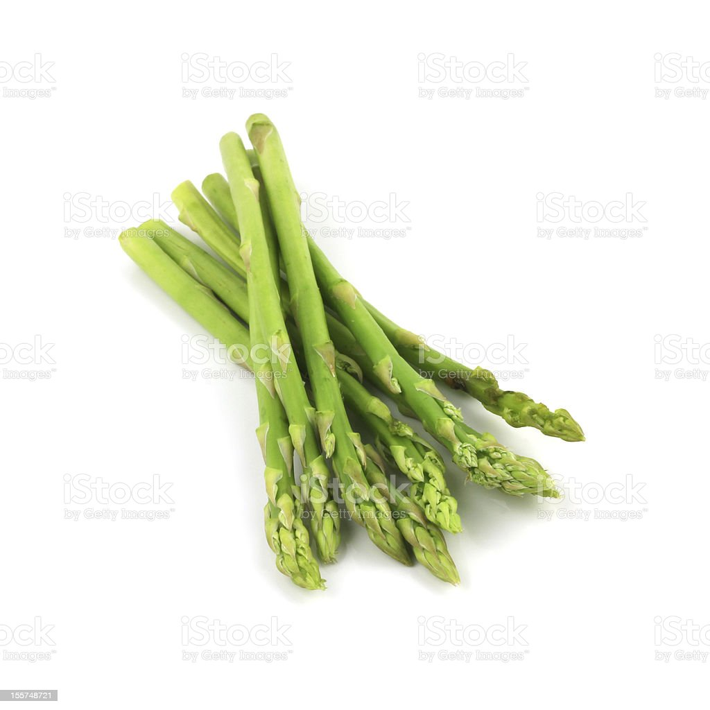 Close-up of a bunch of freshly picked asparagus stock photo