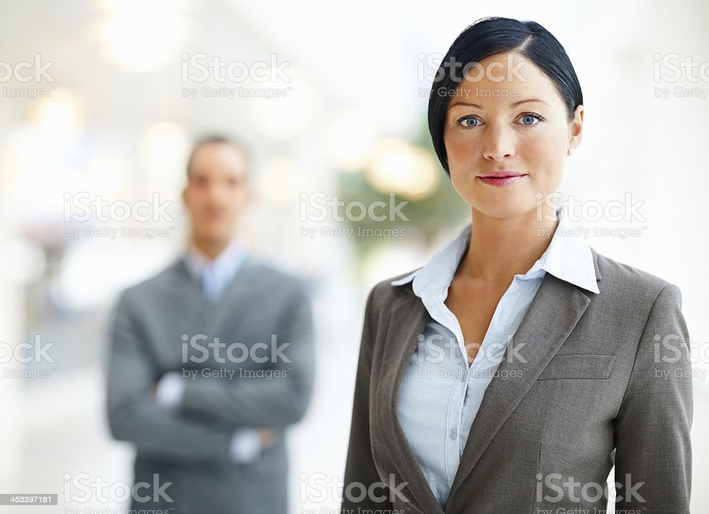 Close-up of a businesswoman royalty-free stock photo