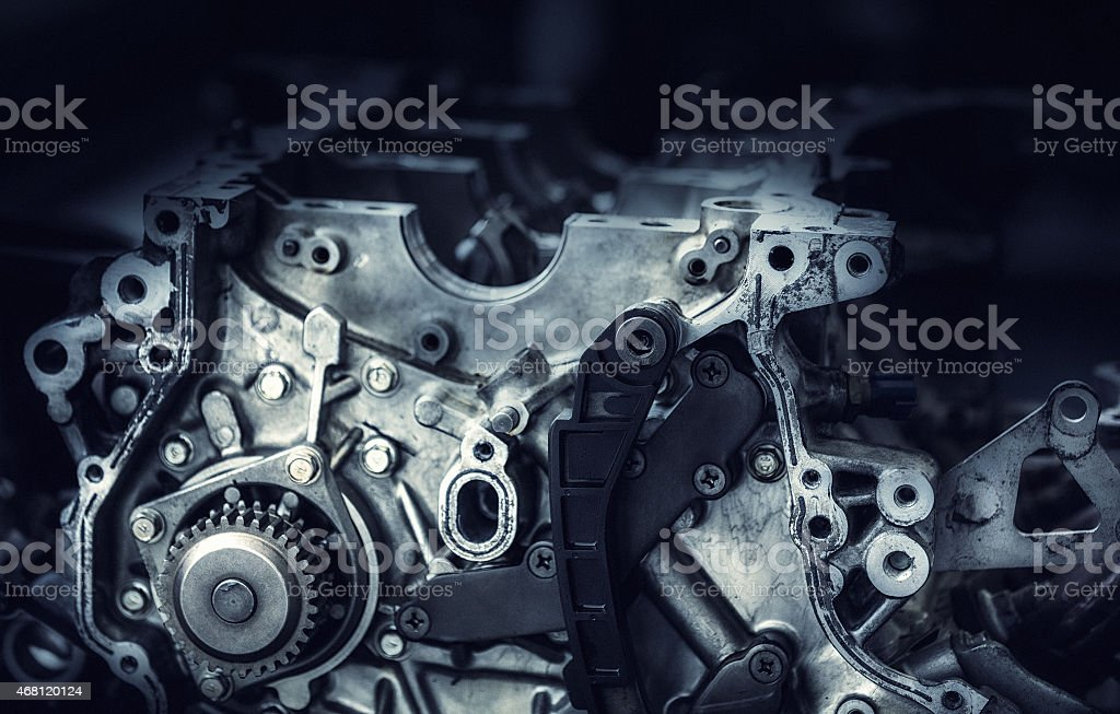 Close-up Of a Car Engine stock photo