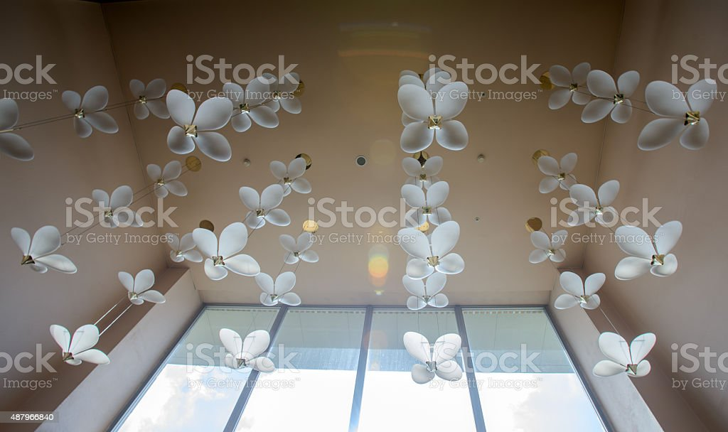 Close-up of a chandelier stock photo