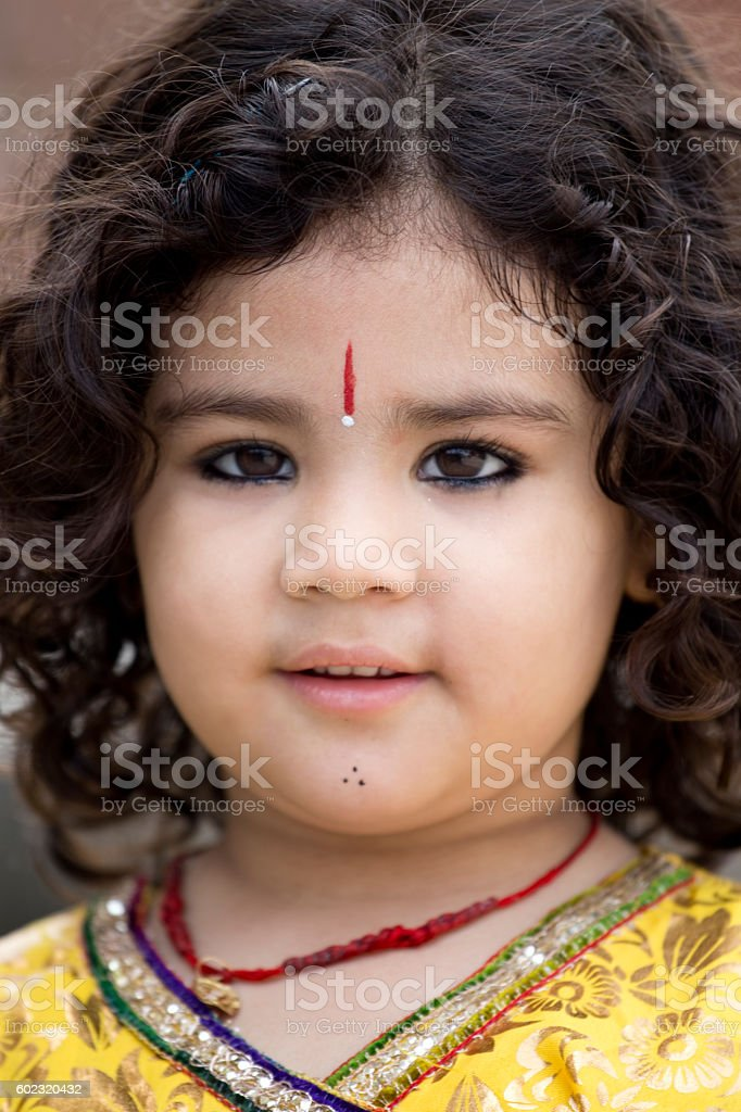 Close-up of a child stock photo