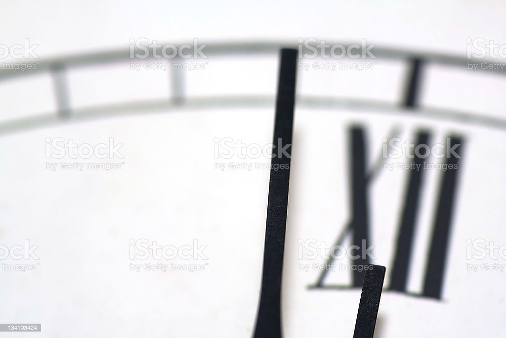 Close-up of a clock stock photo